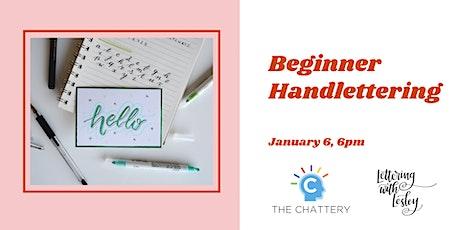Beginner Handlettering tickets