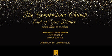 The Cornerstone Church - End of Year Dinner tickets
