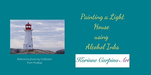 Alcohol Ink Painting Workshop - Lighthouse