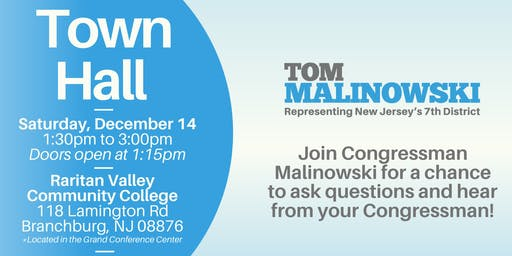 Town Hall with Congressman Malinowski
