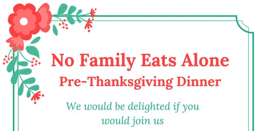 No Family Eats Alone Thanksgiving Fundraiser
