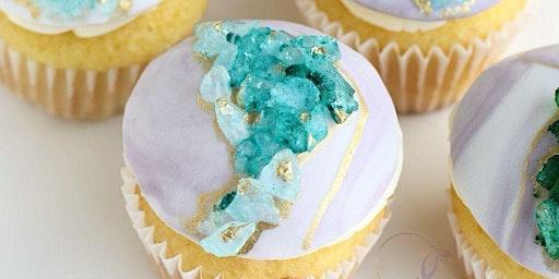 Sugar Geode Cupcakes