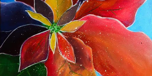 Brews & Brushstrokes - Poinsettia