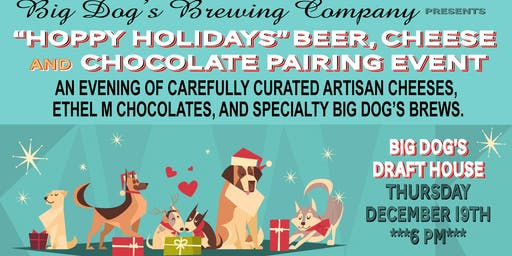 """""""Hoppy Holidays"""" Beer, Chocolate & Cheese Pairing"""