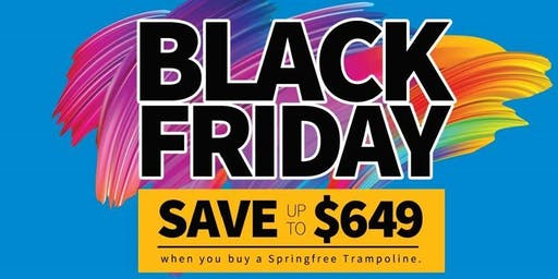 Springfree Trampoline Black Friday Sale Kickoff Event
