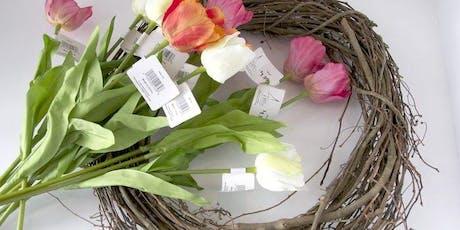 Flower Arranging: Spring Basket Wreath - West Bridgford Library - CL tickets
