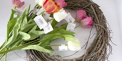 Flower Arranging: Spring Basket Wreath - West Bridgford Library - CL