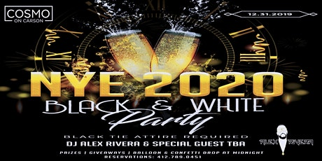 Cosmo on Carson's Black & White NYE 2020! tickets