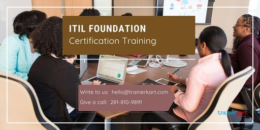 ITIL 2 days Classroom Training in Kennewick-Richland, WA