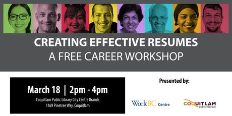 Creating Effective Resumes: A Free Career Workshop (Coquitlam) tickets