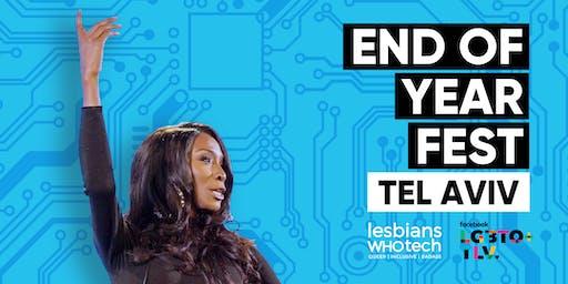 Lesbians Who Tech & Allies Tel Aviv End of Year Fest