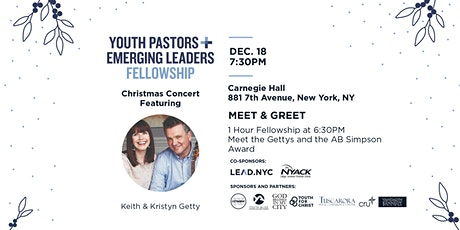 Youth Pastors and Emerging Leaders Fellowship & The Gettys Concert! tickets