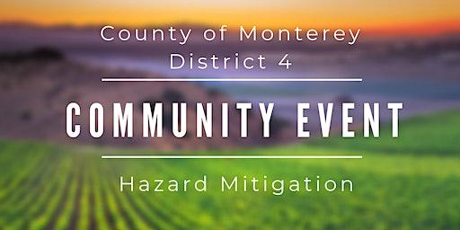 Monterey County Hazard Mitigation Community Forum- District 4