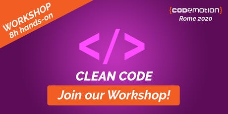 Codemotion Rome 2020 Workshop - Clean Code tickets