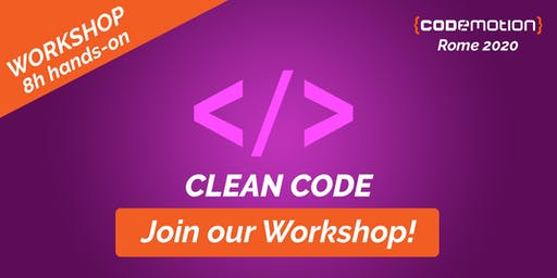 Codemotion Rome 2020 Workshop - Clean Code