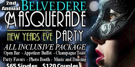 2nd Annual Belvedere Masquerade NYE Party tickets