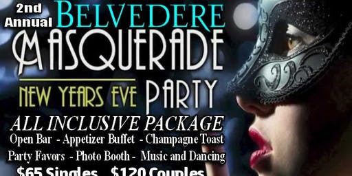 2nd Annual Belvedere Masquerade NYE Party