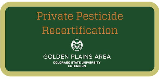 Private Pesticide Applicator Training Julesburg