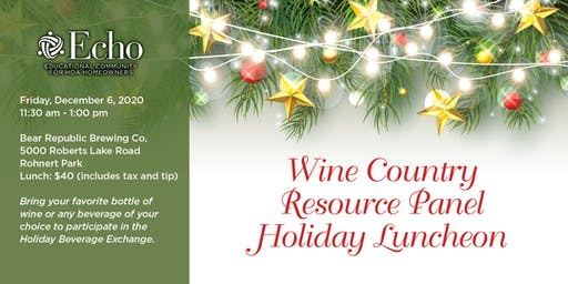 Echo Wine Country Resource Panel Holiday Luncheon