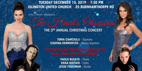 CHRISTMAS Concert, THE HEART'S OBSESSION tickets