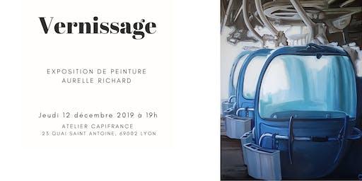 Vernissage expo peinture Aurelle Richard