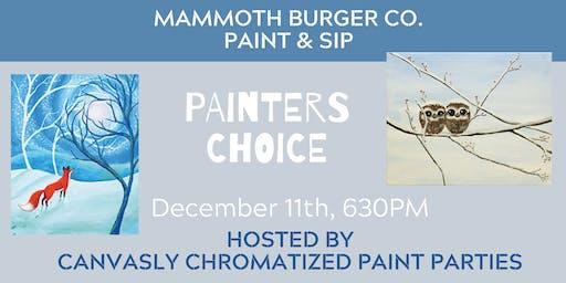 Mammoth Burger Co. Paint & Sip: Winter Choice