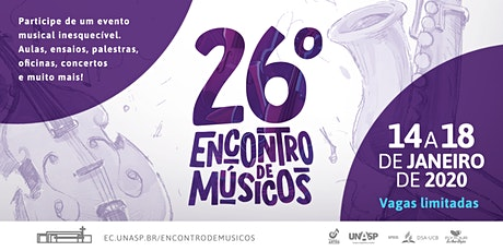 26°  Encontro de Músicos - 2020 ingressos