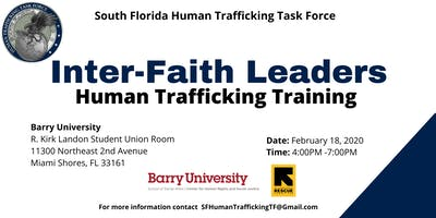 Inter-Faith Leaders Human Trafficking Training
