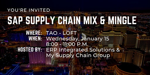 SAP Supply Chain Mix & Mingle