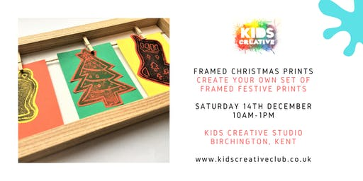 Framed Christmas Prints - Children's Workshop