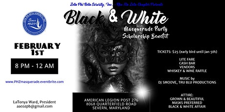 Black & White Masquerade Party and Scholarship Benefit tickets