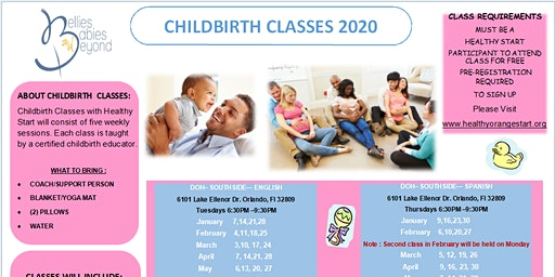 Childbirth Education Classes SPA - for Healthy Start and BBB clients only