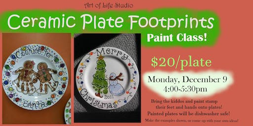 Paint Class: Ceramic Plates (afternoon session)