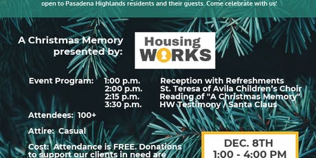 Home for the Holidays with Housing Works tickets