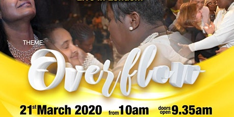 "LADY TO LADY GLOBAL CONFERENCE  theme ""OVERFLOW"" tickets"