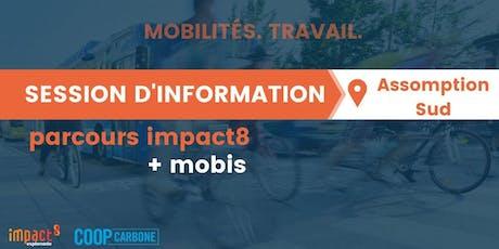 Session d'information | Parcours impact8 + mobis - mobilités / travail tickets