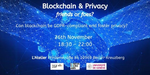 Blockchain and GDPR: Friends or Foes?