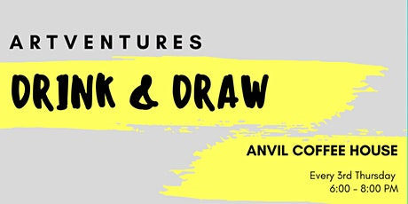 ArtVentures Drink & Draw: Illuminated Monograms tickets