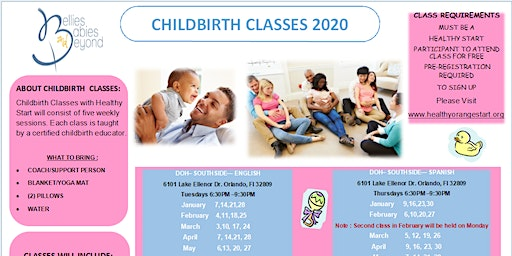 Childbirth Education Classes - for Healthy Start and BBB clients only