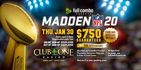 Madden NFL 20 [Jan 30th] tickets