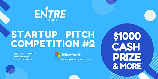 Startup Pitch Competition #2 - $1000 Cash Prize
