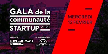 Gala de la communauté startup / Startup Community Awards 2020 billets