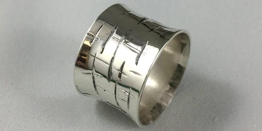 Texture Sterling Silver Ring