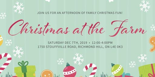12th Annual  -  Christmas at the Farm Family Event!