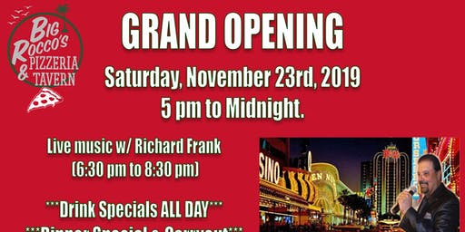 Big Rocco's Pizzeria & Tavern Grand Opening Party