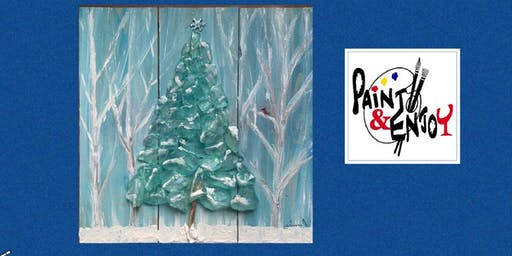 "Paint and Enjoy at Stony Run Brew House ""Frozen Tree""  on wood"