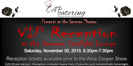 VIP Reception at Genesee Spotlight Lounge-Nov 30th