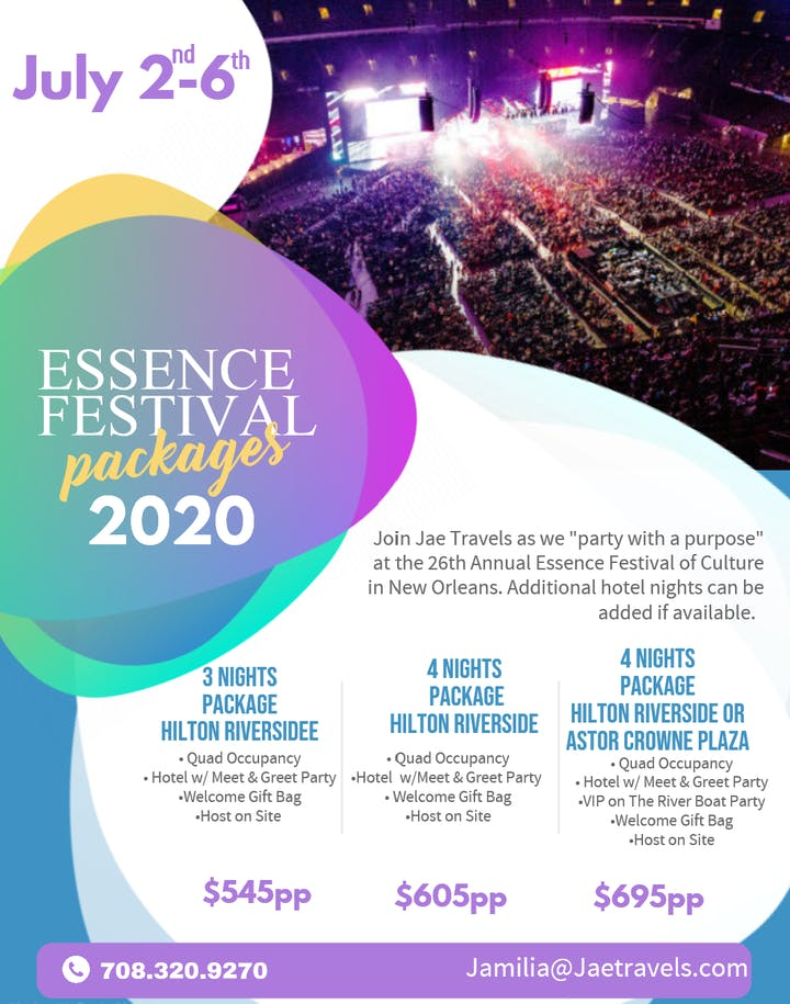 Essence Festival 2020 Hotels.Essence Festival 2020 Hotel Party Packages Tickets Thu