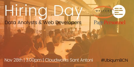 Ubiqum Code Academy:  Hiring Day Page Personnel & Walters People Barcelona tickets