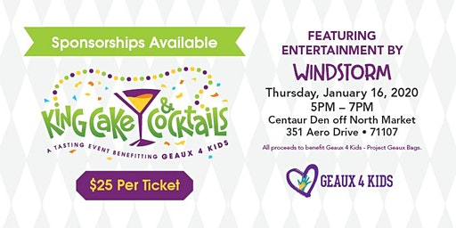 Kingcakes and Cocktails  benefiting Geaux 4 Kids project Geaux Bags